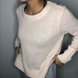 h&m pink knit